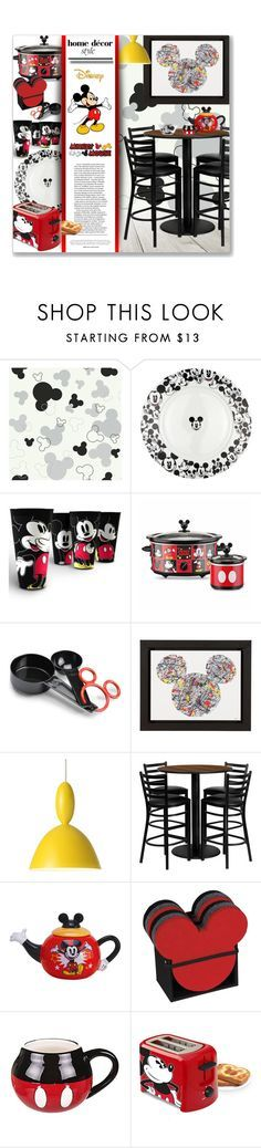 """""""Mickey Mouse Kitchen"""" by leanne-mcclean ❤ liked on Polyvore featuring interior, interiors, interior design, home, home decor, interior decorating, Disney, Ethan Allen, Muuto and Flash Furniture"""