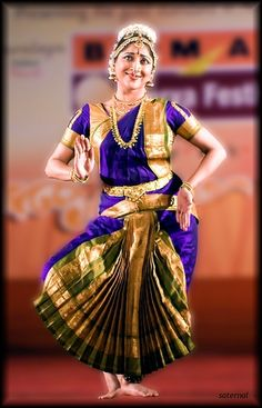 Best 2 Fan 0 Pleats Pure Silk Bharatanatyam Costume