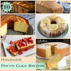 10 Homemade Pound Cake Recipes | RecipeLion.com