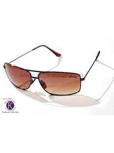 Buy Sunglasses Designer Stylish Look Brown Metallic Frame Gradient Brown Lens • GujaratMall.com