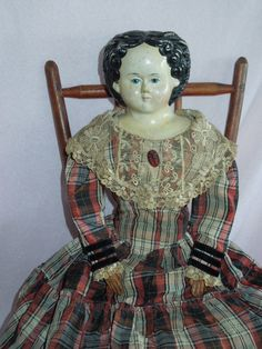 """Grand 22"""" Griener Lady Doll with 1858 Label"""