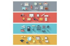 Set of modern concepts. UI Elements