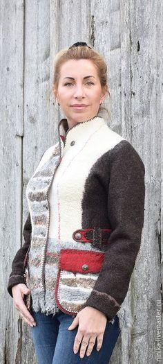 """Купить Куртка """"Миражи"""" - куртка женская, валяная одежда, куртка, одежда для женщин, одежда из войлока"""