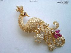 checkout Gorgeous diamond peacock pendant from CJT. They have some of the beautiful diamond peacock pendants. Gold Chain Design, Gold Jewellery Design, Diamond Jewelry, Gold Jewelry, Beaded Jewelry, Gold Pendent, Diamond Pendant, Peacock Jewelry, Kajal
