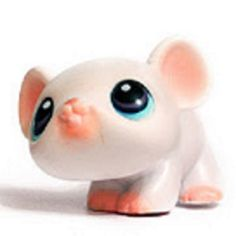 LPS#0030 MOUSE White fur, brow/blue eyes, pink nose and ears.  Appeared in the 2007 monopoly board game illustrations.
