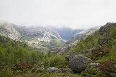 Hiking, hike, preikestolen, fiordos, noruega, púlpito