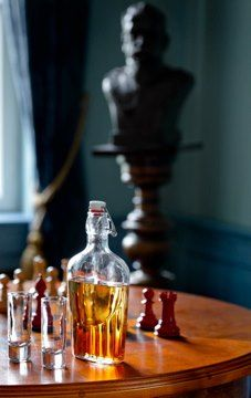 homemade vodka & a game of chess