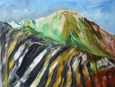 ICELAND COLOURED MOUNTAINS   Original Oil by ElizabethAFox on Etsy