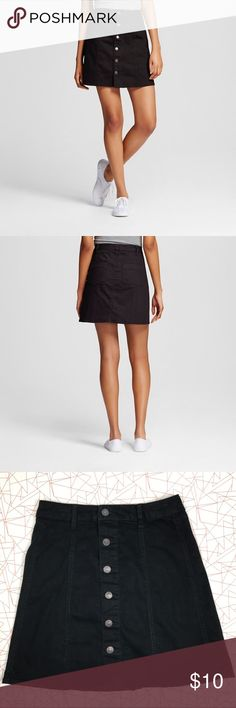 Mossimo Supply Co. button front skirt Button down closure A-line shape 2 back pockets belt loops  flirty above-the-knee length. This Women's Button Front Skirt by Mossimo Supply Co. is an old-school classic that look great with a variety of styles. Mossimo Supply Co. Skirts A-Line or Full