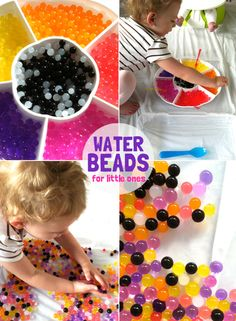 water beads for little ones - great toddler activity