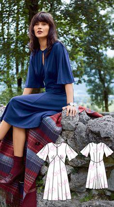 Keyhole Flutter Dress Burda Dec 2016 #118A   Detail: https://www.burdastyle.de/chameleon/mediapool/b44e4919-6617-64dd-33d3-8f4f01748c05.jpg  http://www.burdastyle.com/pattern_store/patterns/keyhole-flutter-dress-122016