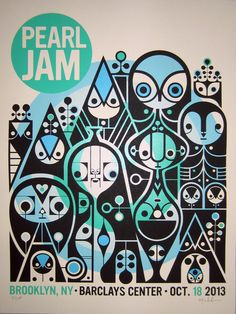 Image of Pearl Jam Brooklyn Print Set, Signed/Numbered
