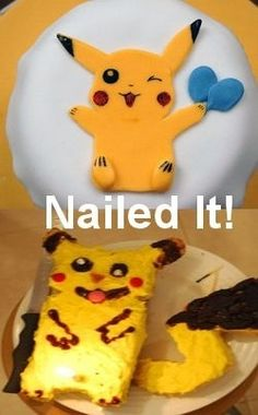 Pikachu Cookies | 31 Horrendous Pinterest Fail Monstrosities. Hilarious, These really made my day lol.