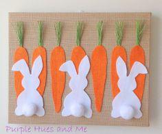 Easter Burlap Canvas Art