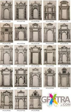 House facade design classic porticos ideas for 2019 Architecture Antique, Neoclassical Architecture, Classic Architecture, Architecture Drawings, Architecture Details, Window Design, Door Design, Exterior Design, House Design