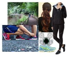 """""""Going for a run with Alex and talking about the christening announcement"""" by amelia-of-scotland ❤ liked on Polyvore featuring Canada Goose, BERRICLE, Effy Jewelry and Asics"""