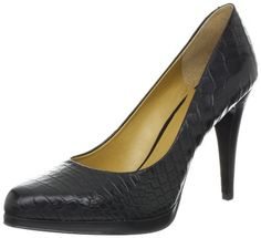 """Nine West Women's Rocha Pump Nine West. $79.00. Platform measures approximately 0.25"""" . leather. Heel measures approximately 4"""". Manmade sole. Made in China"""