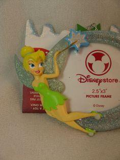 Tinker-Bell-Photo-Frame-3-034-Resin-Christmas-Ornament-Disney-Store-Peter-Pan