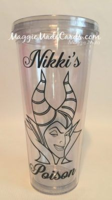 Maleficient Tumbler with Oracle 651 Black