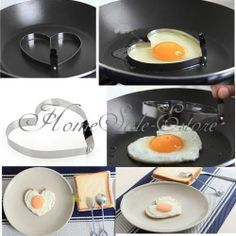 Cook Fried Egg Pancake Stainless Steel Heart Shaper Mould Mold Kitchen Tool | eBay
