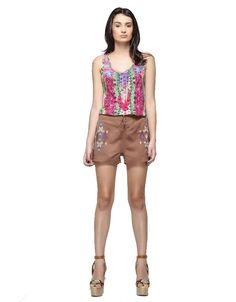 Rococo Sand Mexico Print Tank Top in Hot Pink Multi | SWANK