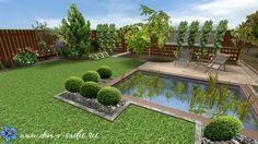 Дизайн участка загородного дома 10 соток   Частный Дом