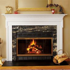 Diy brick fireplace refacing mantels brick fireplaces - How to reface a brick fireplace ...