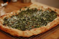 Spicy Garlicky Spinach Pizza Recipe on Yummly