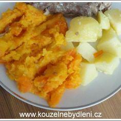 dušená dýně s mrkví