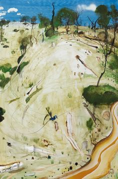 Brett Whiteley (Australian, The Meeting, Oil and collage on composition board, 183 x 120 cm. Abstract Landscape, Landscape Paintings, Abstract Art, Landscapes, Australian Painting, Australian Artists, Art For Art Sake, Art Auction, Art Studios