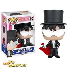 This is a Funko Sailor Moon POP Tuxedo Mask Vinyl Figure. Standing inches tall, the Tuxedo Mask POP Vinyl figure is super cute! It's great to see that the Sailor Moon characters finally got their Sailor Moon Luna, Sailor Chibi Moon, Sailor Saturn, Sailor Venus, Sailor Mars, Tuxedo Mask, Sailor Mercury, Pop Vinyl Figures, Sailor Scouts