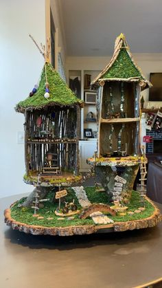 Fairy House Crafts, Fairy Tree Houses, Fairy Village, Garden Crafts, Doll House Crafts, Fairy Garden Pots, Fairy Garden Furniture, Fairy Garden Houses, Greenland Nh