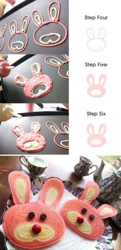 Bunny Pancakes – So cute, and this makes it look easy! – Kelly Worthington Bunny Pancakes – So cute, and this makes it look easy! Bunny Pancakes – So cute, and this makes it look easy! Holiday Treats, Holiday Recipes, Pancake Designs, Pancake Art, Pancake Ideas, Easter Treats, Easter Food, Easter Snacks, Pancake