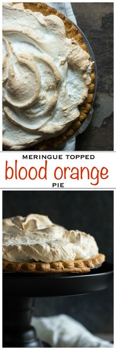 Tart and sweet blood orange curd topped with a crispy, chewy meringue | Foodness Gracious
