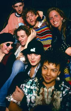 Partygoers @ Paul Oakenfold's Future night hosted at Heaven (then owned by Richard Branson), Charing X Road, London [circa 1988] Centre is balearic DJ Nancy Noise and top-right is Lisa Loud.