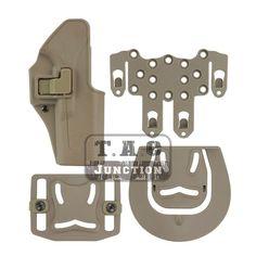 Tactical CQC Serpa Quick Right Hand Paddle Belt Loop Pistol Gun Holster w/ STRIKE MOLLE Platform for Glock 17 19 22 23 31 32.