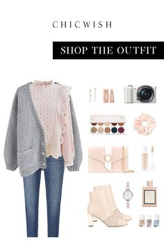 Date Outfits, Classy Outfits, Fashion Outfits, Pretty Outfits, Chunky Knit Cardigan, Oversized Cardigan, Preppy Style, My Style, October Fashion