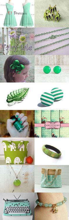 Gorgeous Green by TheDaintyBoutique on Etsy--Pinned with TreasuryPin.com