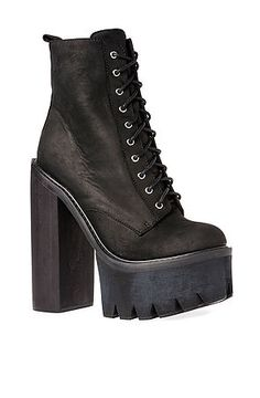 Jeffrey Campbell 'Legion' black leather combat boot with block ...