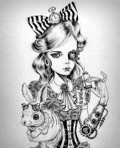 Фото: Alice im Wonderland in Goth :)