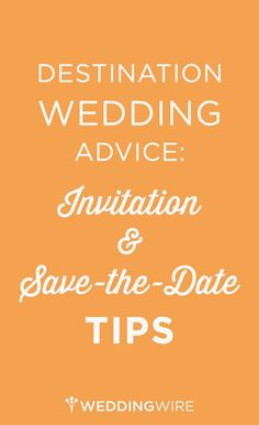 All you need to know about invitations and save-the-dates for a #destinationwedding!