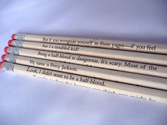 I want these pencils. They should be pens. Just saying. <----Perfect.
