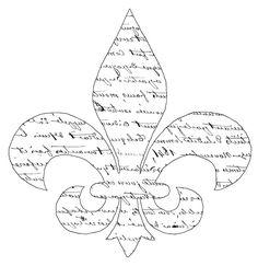 Script Fleur de Lis Transfer! - The Graphics Fairy