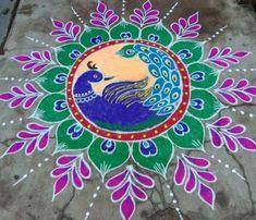 Easy Rangoli Designs Diwali, Indian Rangoli Designs, Rangoli Designs Latest, Simple Rangoli Designs Images, Free Hand Rangoli Design, Rangoli Border Designs, Rangoli Ideas, Beautiful Rangoli Designs, Rangoli Borders