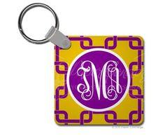 Purple/Yellow Linked Key Chain