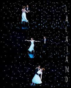 La La Land. Dancing. Valse. Romantic. Love.  Ryan Gosling and Emma Stone.