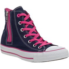 CONVERSE WOMEN'S Chuck Taylor Zip Sneaker Authentic Navy Canvas ($60) found on Polyvore.  Cant' go wrong with Converse, I love them!