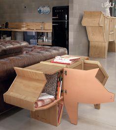 Dresser - Wooden pig -
