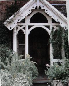 Carpenter Gothic trim on a British house.