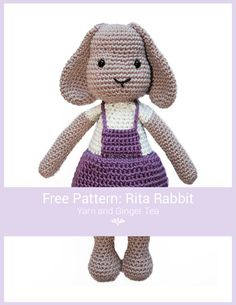Mesmerizing Crochet an Amigurumi Rabbit Ideas. Lovely Crochet an Amigurumi Rabbit Ideas. Crochet Blanket Edging, Bobble Crochet, Crochet Patterns Amigurumi, Amigurumi Doll, Crochet Dolls, Crochet Rabbit, Cute Crochet, Crochet Lace, Diy Crochet Bikini
